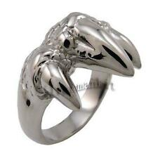 Men's 316L Silver Dragon Claw Stainless Steel Ring Size 9, 10, 11