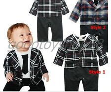 Smart Baby / Toddler Boy Fall Long Sleeves Suit Costume One-piece 6-24 months