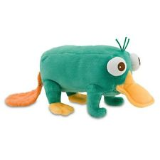 "BNWT Disney Talking PERRY 19"" Plush Soft The Platypus Phineas And Ferb Agent P"