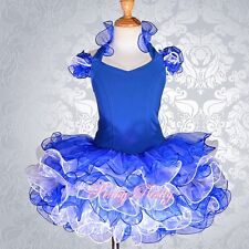 #Cup Cake Pageant Dress Shell Party Dance Costume Girl Size 2-11 yr 3 Colors 002