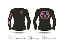 Womens Long Sleeve Hunting t shirt,Dixie Land Outdoors,Bow huntress,hunter,pink