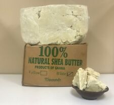 White/Ivory Raw Shea Butter Unrefined Organic Grade A From Ghana 2 oz. to 50 Lbs