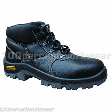 Delta Plus Panoply PROTON Black Leather Chukka Safety Work Boots Shoes Toe Cap