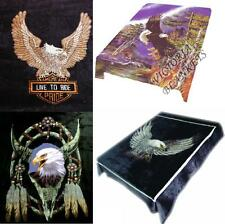 """Brand New Eagle print Queen size 79""""x95"""" Luxury blanket"""