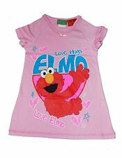 GIRLS ELMO NIGHTIE NIGHTY Pyjamas/ PJ SLEEPWEAR LILAC & PINK SIZE 2,3,4,5,6,7