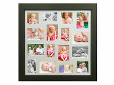 LARGE MULTI APERTURE MOUNT PICTURE/PHOTO FRAME IN BLACK,WHITE,PINE OR MAHOGANY