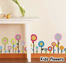 Kids flower Vinyl Mural Wall paper stickers Art Decal