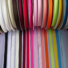 """3/8"""" (10 mm) Polyester Grosgrain Ribbon Tape- Color Choice-5 Yards-T385"""