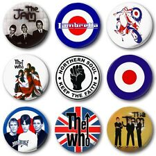 "MOD BADGES (Various Designs) - 1"" / 25mm Button Badge - Jam Who Weller Scooter"