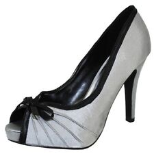 Wild Diva Gray Satin Sexy High Heel Pumps Open Toe Womens Shoes (Retail $45)