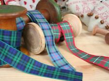 Tartan Ribbons | 3 Colours | Christmas | 25mm | By the Metre