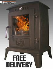 Ultimo Stoves IPSUM Multi-Fuel Efficient Wood Burning Stove 5kW - FREE DELIVERY