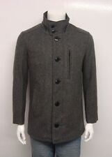 SCHOTT NYC MEN'S WOOL PEACOAT JACKET GREY DU739-OXFORD SELECT SIZE