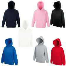 New Fruit of the Loom Childrens Kids Hoodie Sweatshirt in 9 Colours Ages 5-15