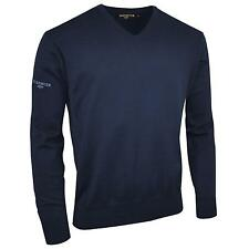 New GLENMUIR Mens Golf Classic Cotton V Neck Sweater Jumper in 4 Colours S - XXL