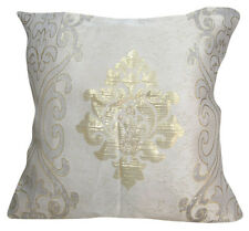 EC029 Gold Emboridered Metalic Damask Cushion Cover/Pillow Case *Custom Size