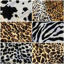 ANIMAL PRINT POLYESTER VELBOA VALBOA FAUX FUR VELOUR DRESS/UPHOLSTERY FABRIC