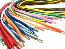 BUY 2 GET 1 FREE Oval Coloured Shoelaces Shoe Laces-Many Colors