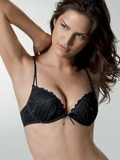Triumph CRYSTAL FEELINGS WHU Push Up BRA in Black with Diamante