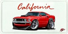 1969 Ford Mustang Boss 429 Muscle Car License Plate NEW