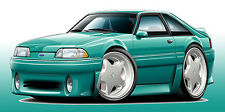 1987-93 Ford Mustang GT 5.0 Muscle Car Art Print NEW