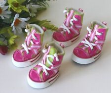 USA Seller Dog Puppy Fashion SET of 4 Shoes Boots Sneakers PINK size #1 - #5