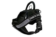 Fully Chest Padded Dog Harness with Velcro Patches: DIABETIC DOG