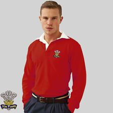 Wales Retro style Rugby Shirt / Jersey with FREE back print