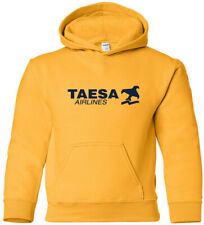 TAESA Vintage Logo Mexican Airline Hooded Sweatshirt HOODY