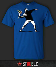 Banksy Flower Thrower T-Shirt - New - Direct from Manufacturer