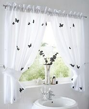 WINDOW CURTAIN SET BUTTERFLYS WATER PROOF EMBROIDERED TAFFETA part of set