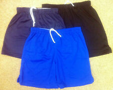 PLAIN POLYESTER PE SPORTS SHORTS FOR  FOOTBALL/RUGBY AND FOR HOCKEY