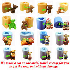 Silicone Soap candle Chocolate Candy Mould DIY 3D Bear Model Mold