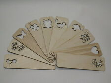 Wooden Bookmarks Heart Shape Cut School Accessories Unpainted Bookmarks