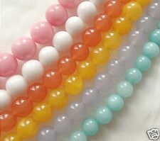 10mm Malay Jade Dyed Quartzite Beads on String Jewellery Making