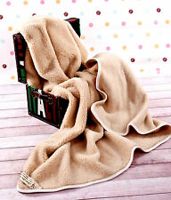 MERINO PURE WOOL BLANKET / THROW 100% NATURAL , WOOLMARKED ALL SIZES