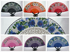 Spanish flamenco dance wood hand fans eventails fächers ventagli abanicos Spain