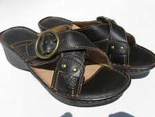 Brand new JEMMA  women girls sandals leather dark brown size 8/8.5/9/9.5/10