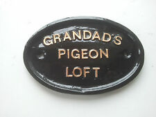 Grandad's pigeon loft,Fathers Day gift,Christmas Gift,door sign, funny sign
