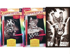 REEVES MINI COPPERFOIL PICTURE, TIGER, GIRAFFE OR KITTEN