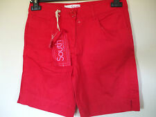 SOUTH, RED COTTON CASUAL SHORTS BNWT SIZE 10, assorted colours/sizes available