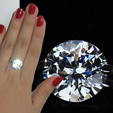 925 Silver Plated  8ct Large Round Cut Swarovski Crystal Statement Ring,R402