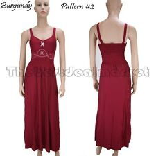 2013 Fashion Long Summer Dress Beach Hippie Party Wears Solid Color Pattern #2