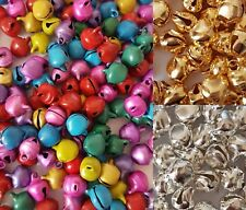 CHOOSE COLOUR, 25g (approx 50 bells)SMALL BELLS,SILVER,GOLD OR MIXED