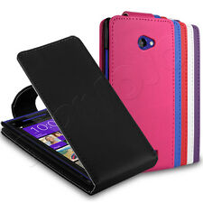 Deluxe PU Leather Flip Wallet Case Cover Sleeve Fits HTC Windows Phone 8X Mobile