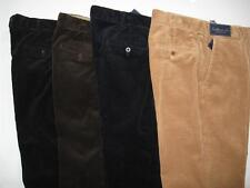 POLO RALPH LAUREN PRESTON PANTS MENS FLAT-FRONT COTTON CORDUROY