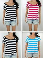 NWT HOLLISTER Women's T Shirt Harbor Beach Easy Fit Off Shoulder By Abercrombie
