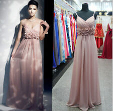Chiffon Formal Long Evening Gown Party Prom Bridesmaid Dress Size6 8 10 12 14 16