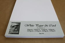 QUALITY A4 WHITE CARD/PAPER. SMOOTH & BRIGHT WHITE. POPULAR WEIGHT & PACK SIZES.