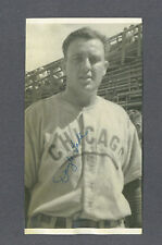 Doyle Lade signed Chicago Cubs vintage baseball photo 1921-2000